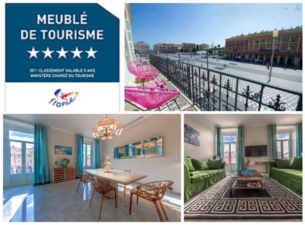 location vacances cote d`azur, alpes maritimes, place massena, nice, meublé de tourisme 5 étoiles