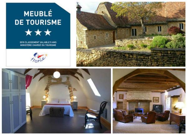 location vacances Dordogne, region Aquitaine, Archignac, Logis de Contie, meublé de tourisme 3 étoiles
