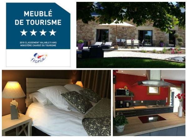 location vacances Finistère, Bretagne, Bannalec, gite de kermal, meublé de tourisme 4 étoiles